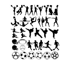 Sport clipart silhouttes