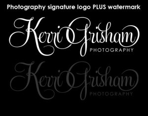 Photography logo in black and white and watermark
